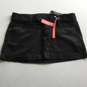 Express Jeans Black Denim Skirt Size 12